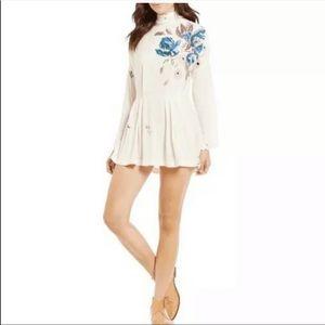 Free People   Gemma floral tunic dress sz XS